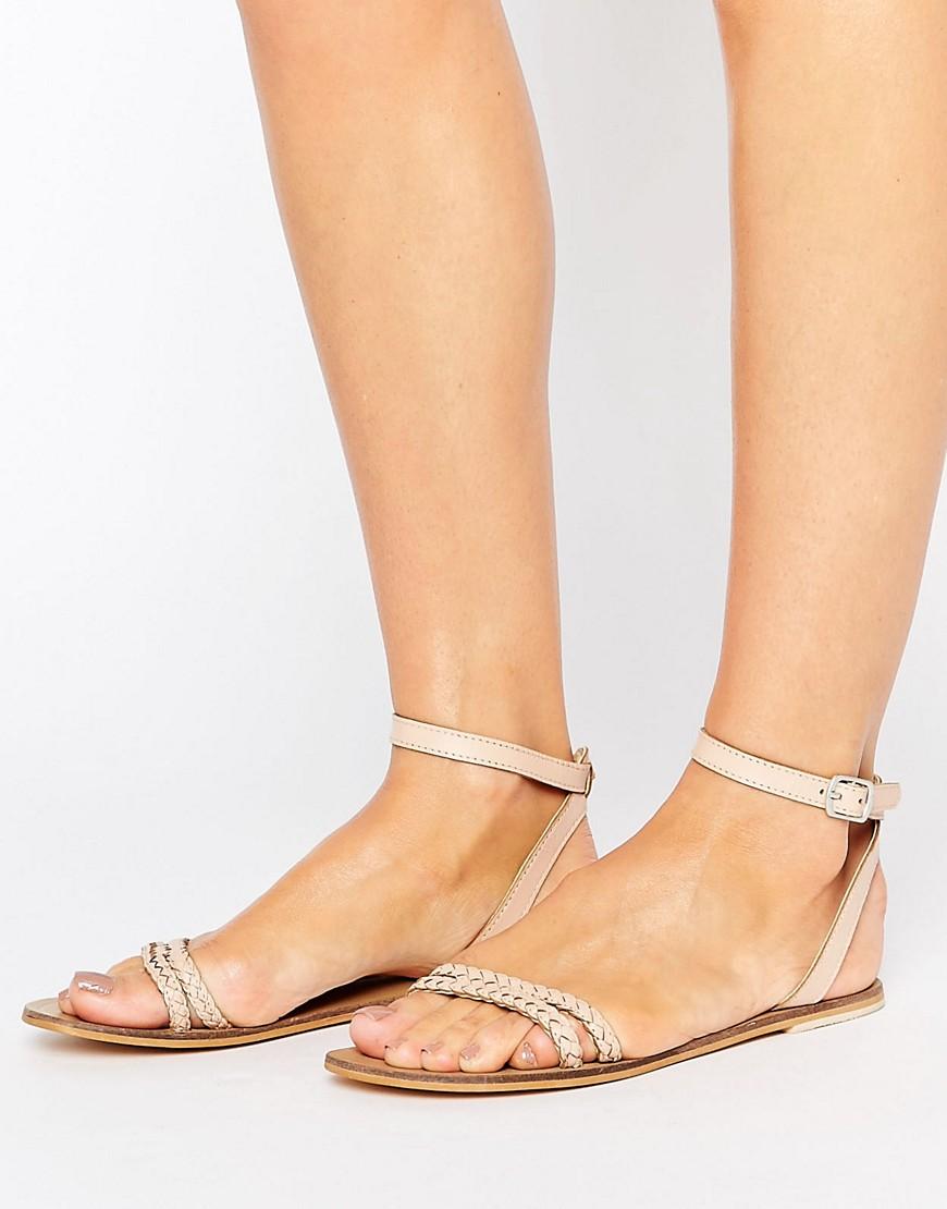 Sandalias planas de cuero FLERY en ofertas calzado