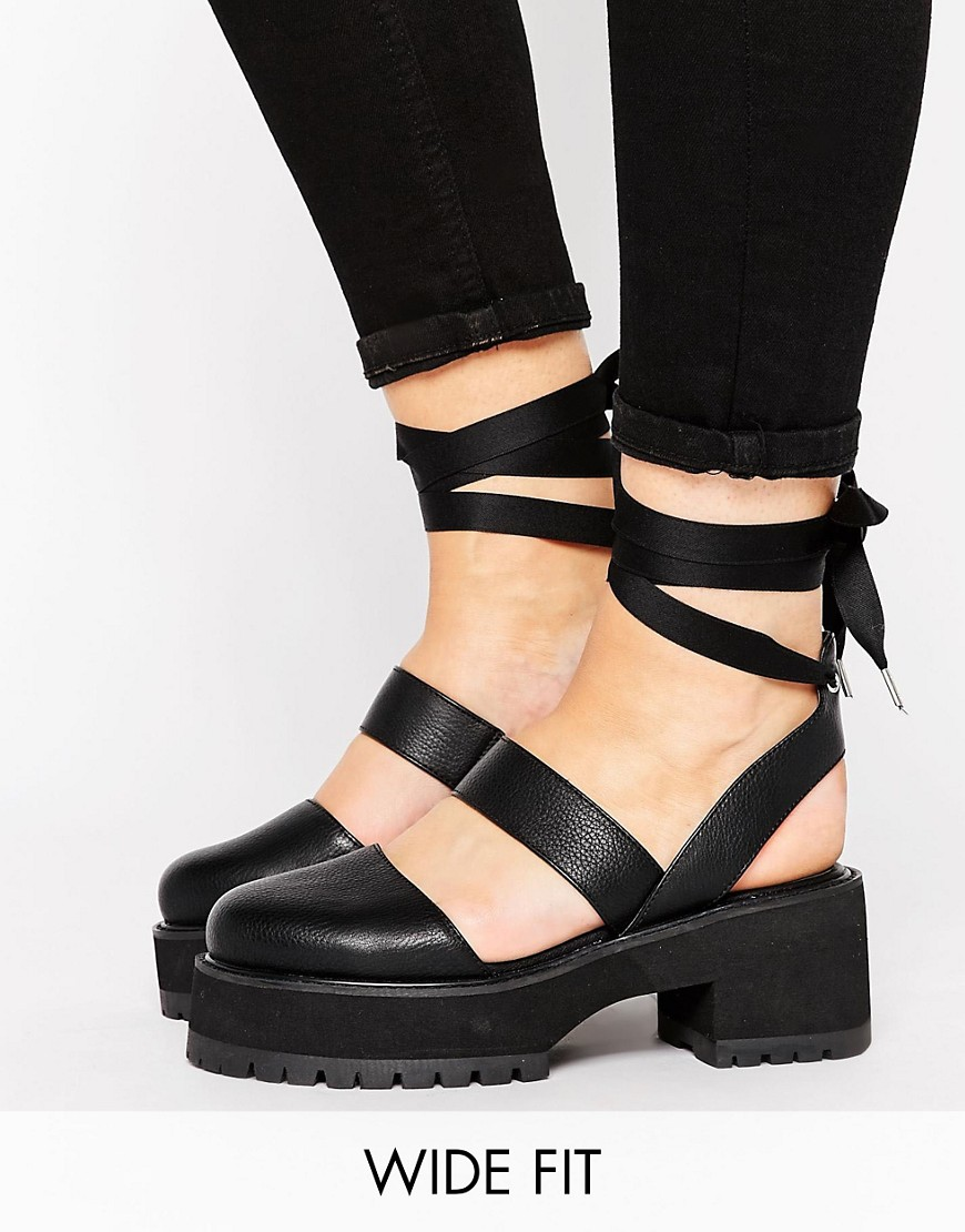 Tacones gruesos de corte ancho en ofertas calzado OBLONG