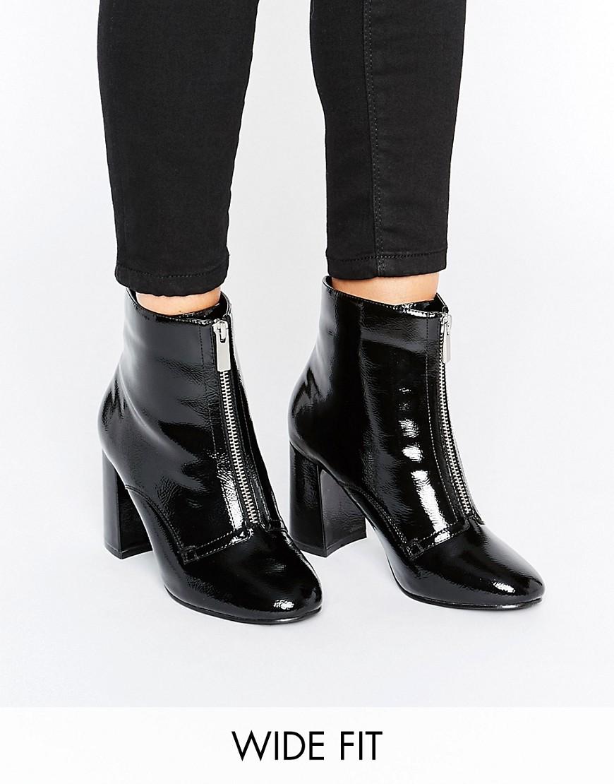 Botas anchas con cremallera delantera ELSPETH en ofertas calzado