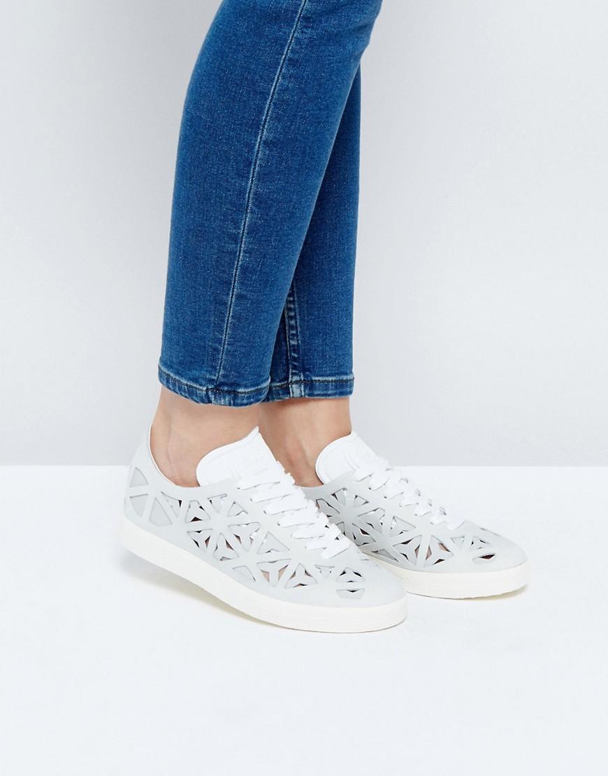 Zapatillas de deporte blancas con aberturas Gazelle de adidas Originals