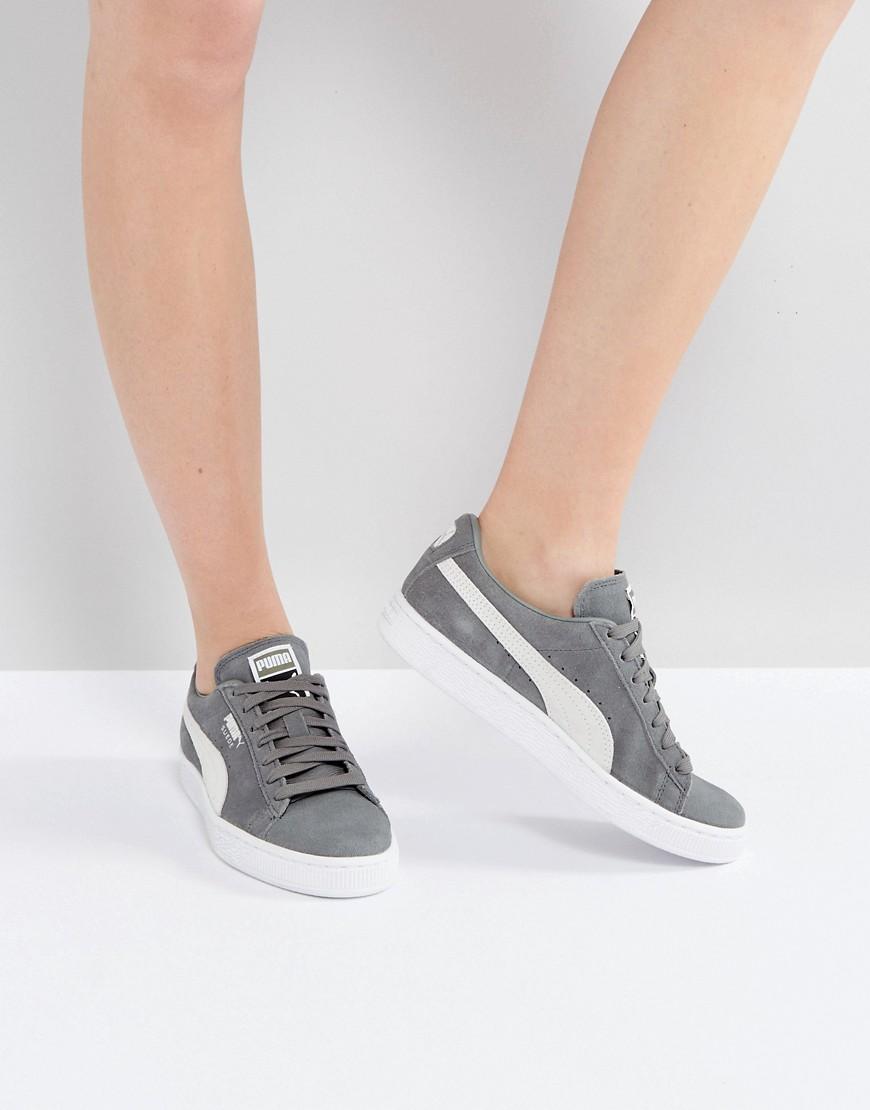Zapatillas de deporte clasicas de ante caqui de Puma