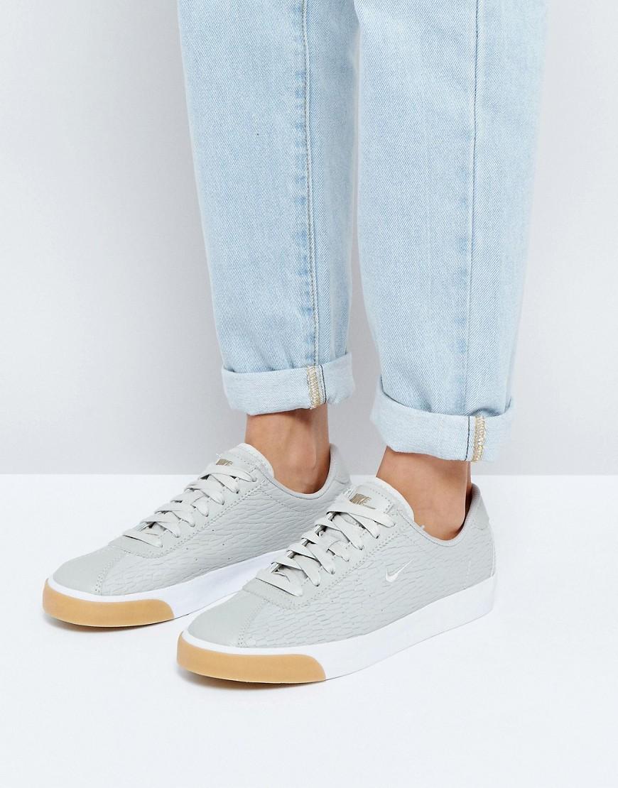 Zapatillas de deporte clasicas de cuero gris de primera calidad Match de Nike