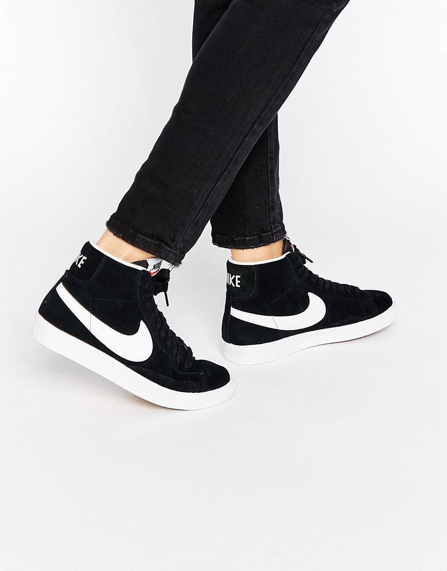 Zapatillas de deporte de ante en blanco y negro Blazer de Nike