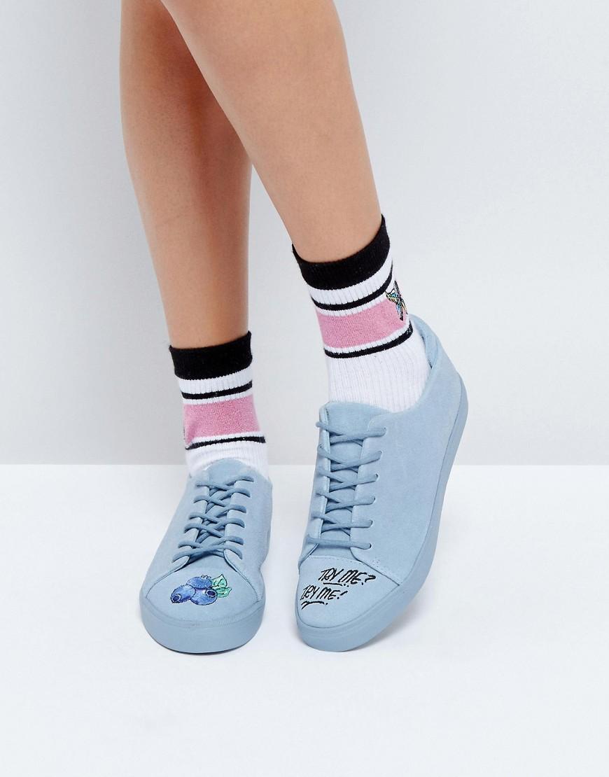 Zapatillas de deporte de ante en color arandano en ofertas calzado X LOT STOCK & BARREL