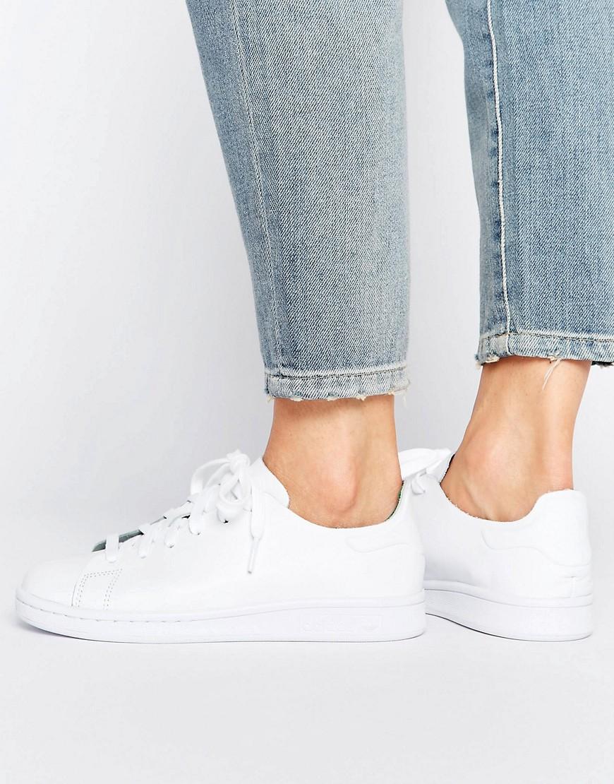 Zapatillas de deporte de cuero Stan Smith de Adidas