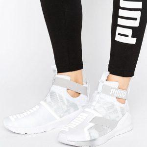 Zapatillas de deporte en blanco con tira Swan Fierce de Puma