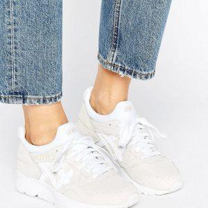 Zapatillas de deporte en cuero texturizado color hueso Gel-Lyte de Asics