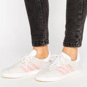 Zapatillas de deporte en gris y rosa pastel Gazelle de adidas Originals