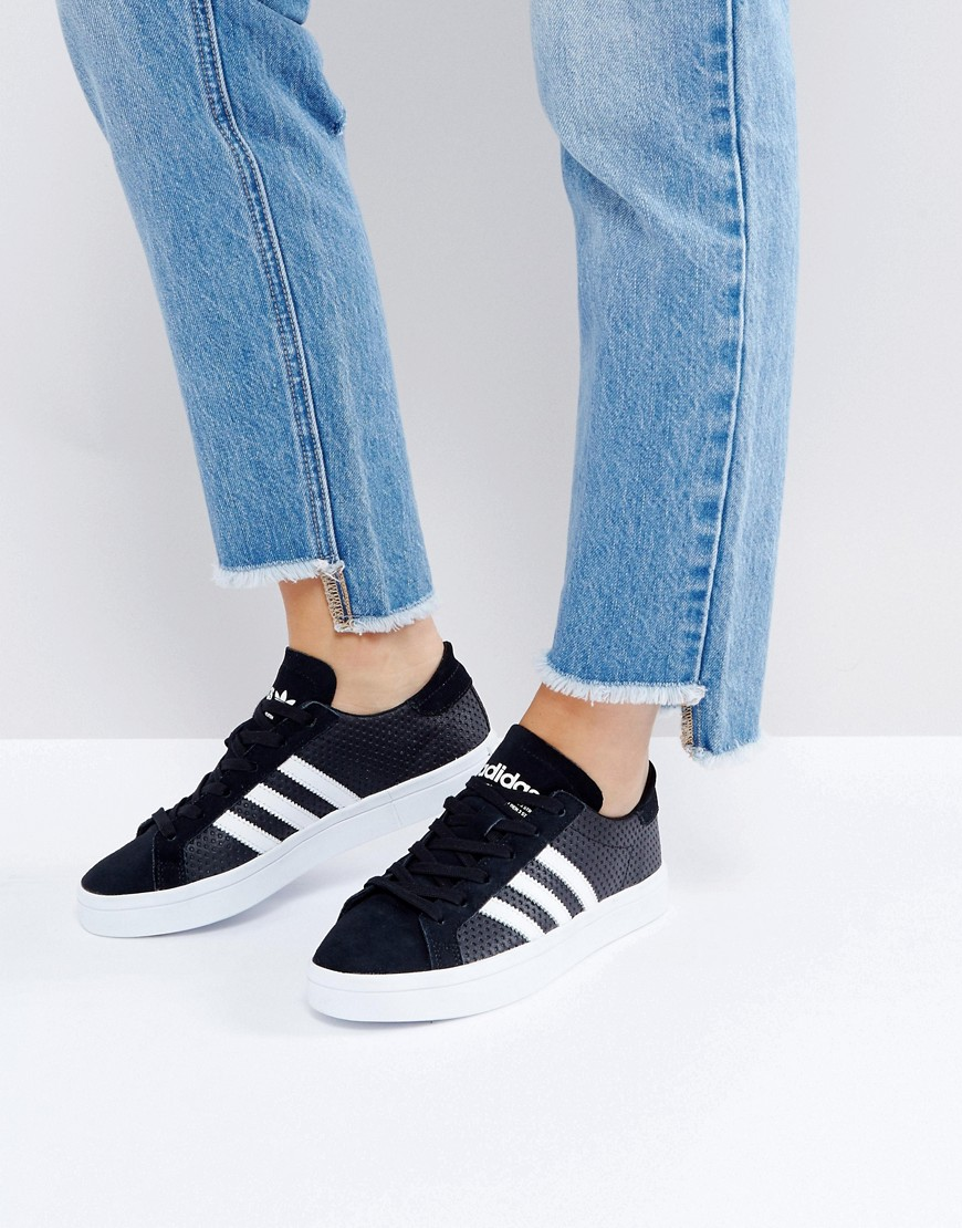 Zapatillas de deporte en negro y blanco Court Vantage de adidas Originals