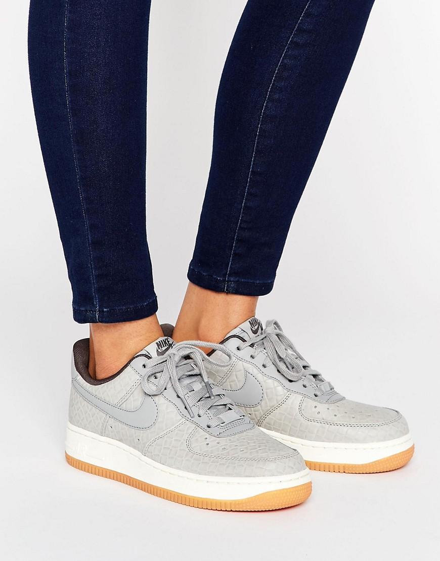 Zapatillas de deporte grises Air Force 1 de Nike