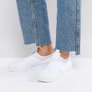 Zapatillas de deporte sin cierres en blanco Superstar de adidas Originals