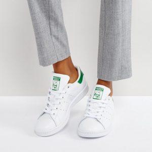 Zapatillas de deporte unisex en blanco y verde Stan Smith de adidas Originals