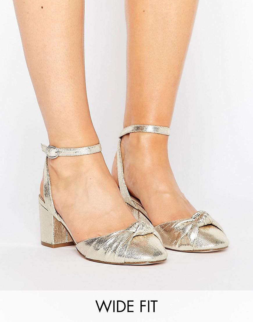 Zapatos de tacon de corte ancho con nudo SAMIRA en ofertas calzado