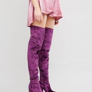 Botas por encima de la rodilla en terciopelo con plataforma KEATS en ofertas calzado