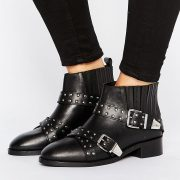 Botines anchos de cuero con tachuelas ASHES en ofertas calzado