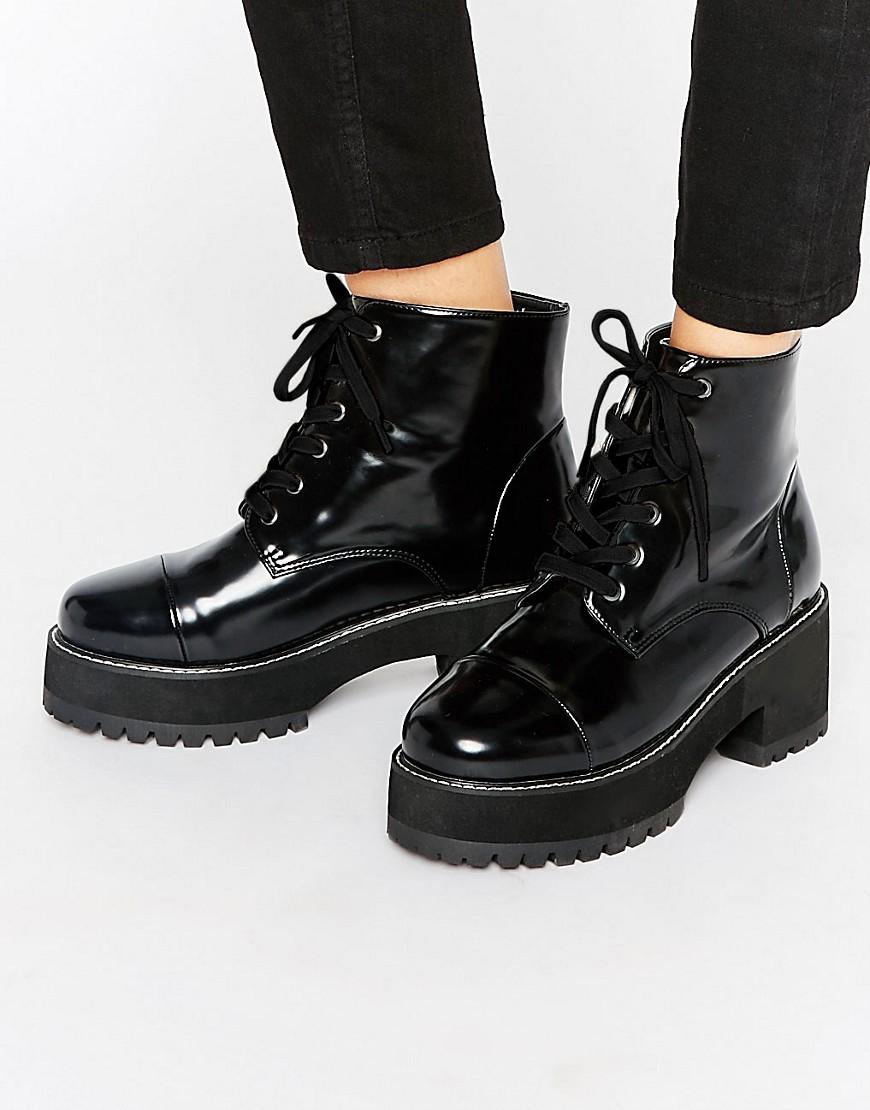 Botines de cordones gruesos RUE en ofertas calzado