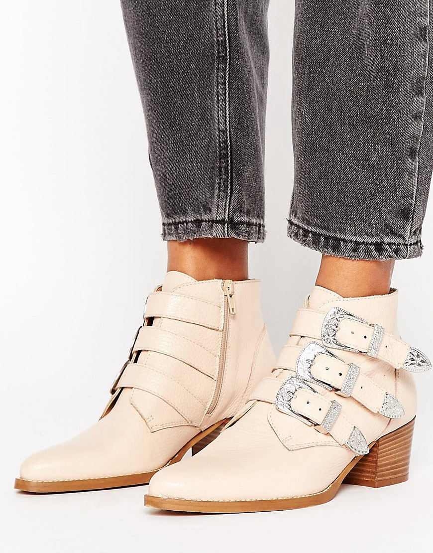 Botines de cuero con hebilla RYDER en ofertas calzado