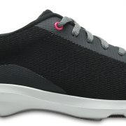 Crocs Shoe Mujer Negros Busy Day Stretch Mesh Lace-Up