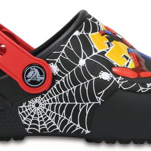 Crocs Clog para chicos Negros Crocs Fun Lab Lights Spider-Man s
