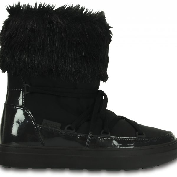Crocs Boot Mujer Negros LodgePoint Lace