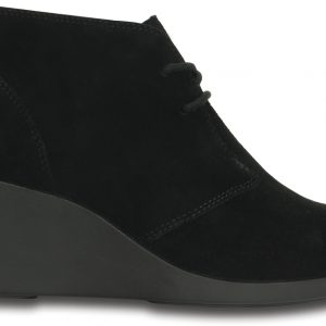 Crocs Boot Mujer Negros Leigh Suede Shootie