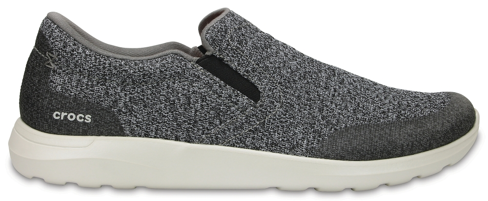 Crocs Shoe Hombre Charcoal / Pearl Crocs Kinsale Static Slip-On