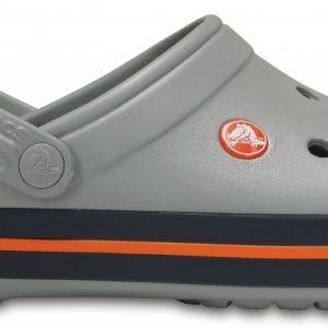 Crocs Clog Unisex Light Grey / Azul Navy Crocband