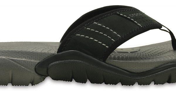 Crocs Flip Hombre Graphite / Negros Swiftwater