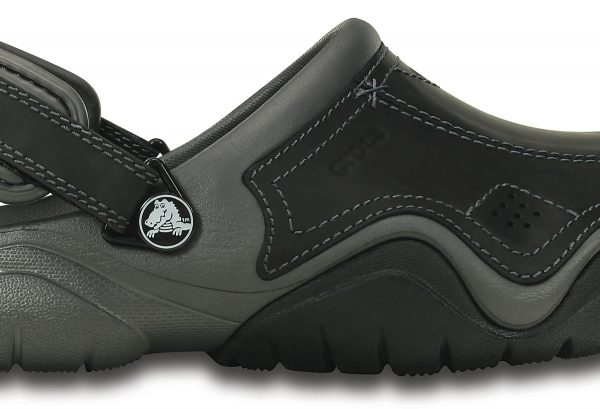 Crocs Clog Hombre Graphite / Negros Swiftwater Leather