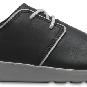Crocs Shoe Hombre Negros / Smoke Crocs Kinsale Leather Lace-Up