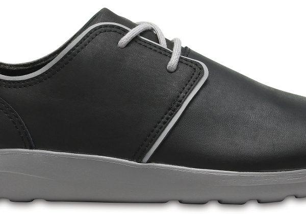 Crocs Shoe Hombre Negros / Smoke Crocs Kinsale Leather Lace-Up