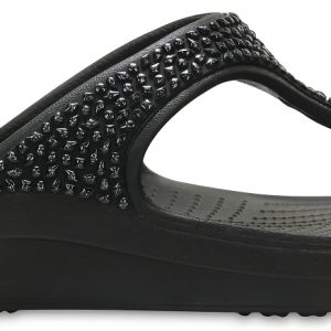 Crocs Flip Mujer Negros / Negros Crocs Sloane Embellished