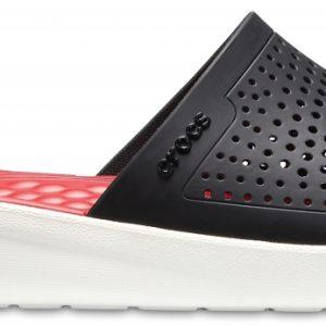 Crocs Slide Unisex Negros / Blancos LiteRide s