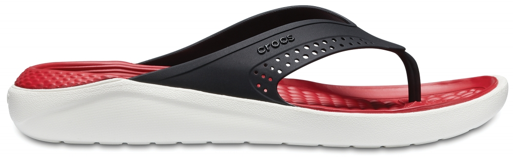 Crocs Flip Unisex Negros / Blancos LiteRide s