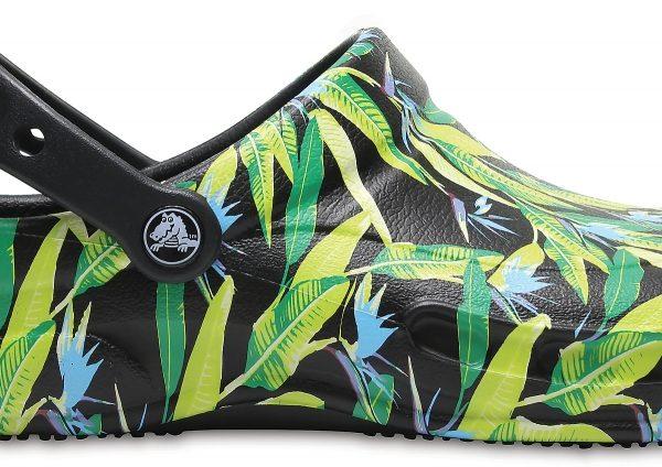 Crocs Clog Unisex Negros / Parrot Verdes Bistro Graphic s