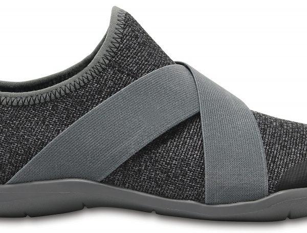 Crocs Shoe Mujer Slate Grey Swiftwater Cross-Strap Static