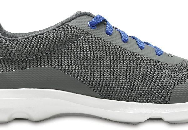 Crocs Shoe Mujer Slate Grey Busy Day Stretch Mesh Lace-Up