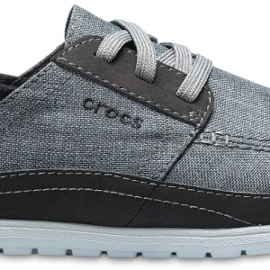 Crocs Shoe Hombre Slate Grey/Light Grey Santa Cruz Playa Lace-Ups