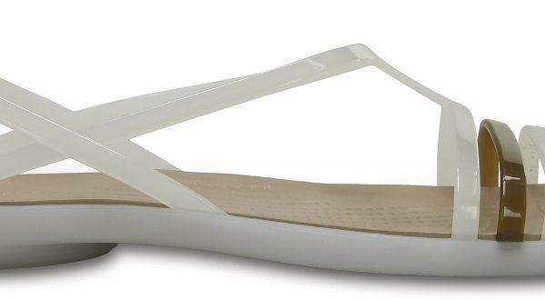 Crocs Sandal Mujer Oyster / Walnut Crocs Isabella