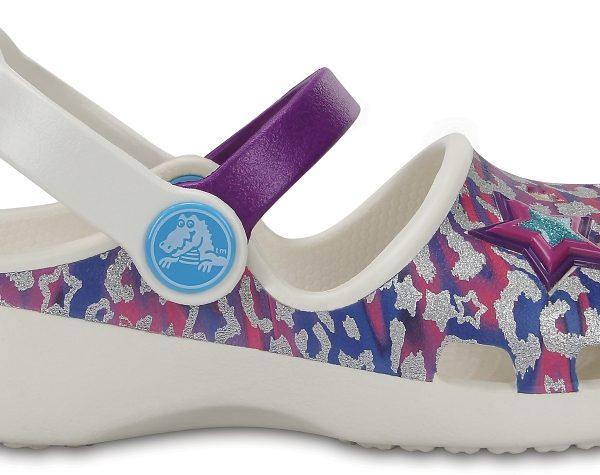 Crocs Clog para chica Oyster / Amethyst Crocs Karin Novelty s