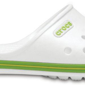 Crocs Slide Unisex Blancos / Volt Verdes Crocband II
