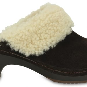 Crocs Clog Mujer Espresso Crocs Sarah Luxe Shearling Lined