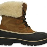 Crocs Boot Hombre Wheat / Negros AllCast II Luxe Shearling