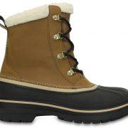 Crocs Boot Hombre Wheat / Negros AllCast II