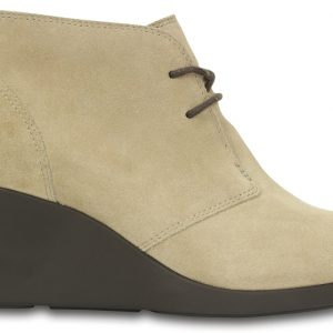 Crocs Boot Mujer Tan Leigh Suede Shootie