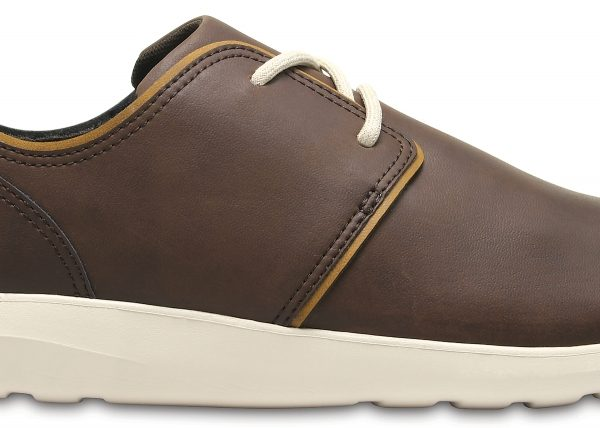 Crocs Shoe Hombre Espresso / Stucco Crocs Kinsale Leather Lace-Up