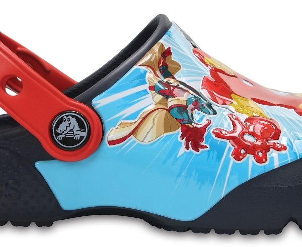 Crocs Clog para chicos Azul Navy Crocs Fun Lab Marvel Avengers s