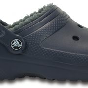Crocs Clog Unisex Azul Navy / Charcoal Classic Fuzz Lined
