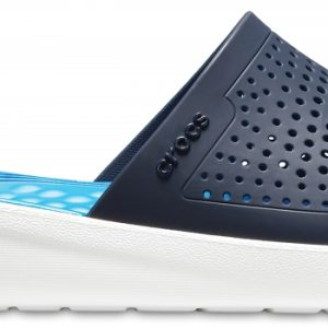 Crocs Slide Unisex Azul Navy / Blancos LiteRide s