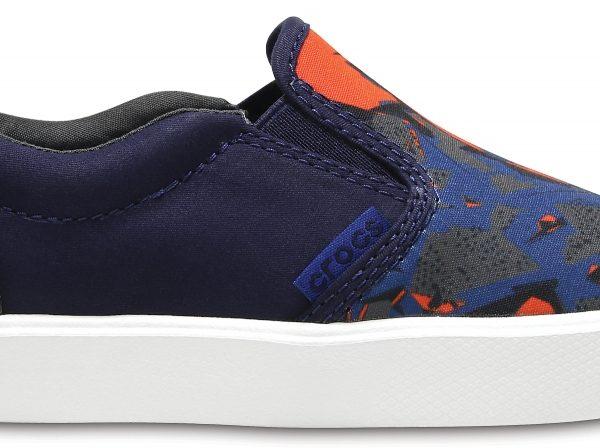 Crocs Shoe Unisex Blue Camo CitiLane Novelty Slip-On